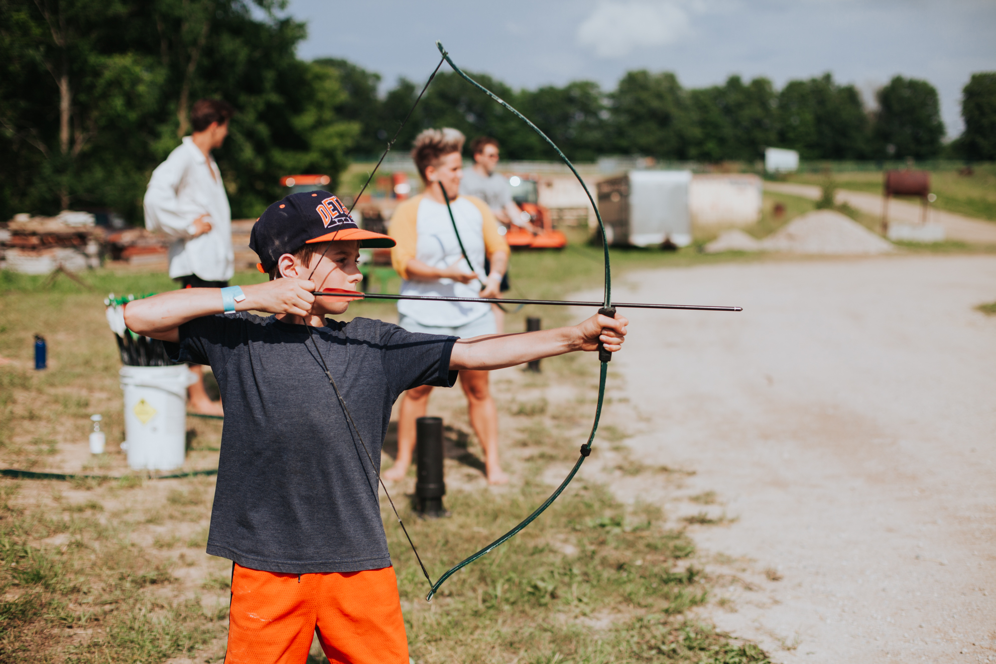 Kid Playing Archery